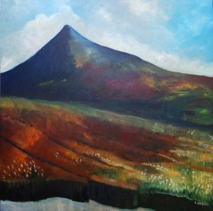 Victoria Crowley, Hungry Mountain, Oil on Canvas