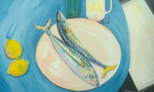 No. 44 - Two Mackerel And Two Lemons