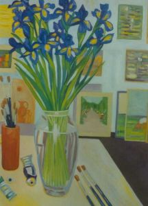 No. 45 - Irises In My Studio