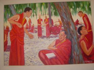 Tibetan Monastery Monks Debating